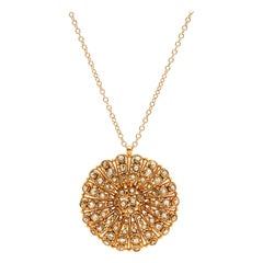 Rose-Cut Diamond and 18 Karat Gold Pendant