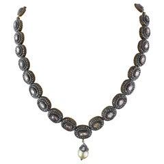 Rose Cut Diamond Antique Necklace
