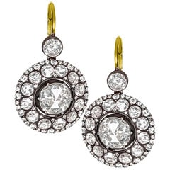 Rose-Cut Diamond Earrings