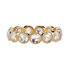Approx. 2.00 Carat Rose Cut Diamonds Set in a Handcrafted Gold Eternity Band