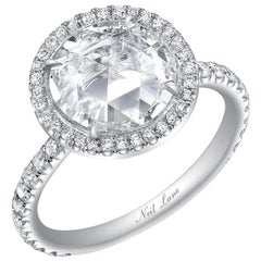 Neil Lane Couture Rose-Cut Diamond, Platinum Ring