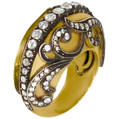 Rose-Cut Diamond Ring, 24 Karat Finish