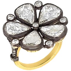 Rose-Cut Diamond Ring, Flower