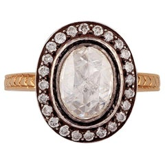 Rose Cut Diamond Ring in Victorian Style