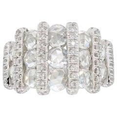 Rose Cut Diamond Ring Made in Platinum