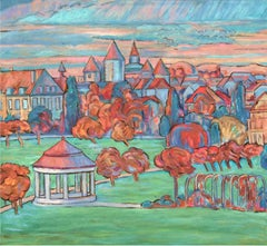 Geneva Station, Painting, Oil on Canvas