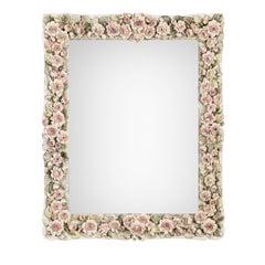 Rose Fiorite Rectangular Mirror