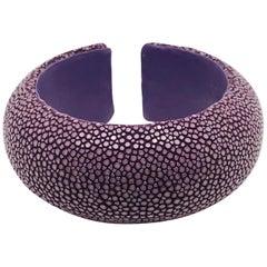Rose Galuchat Cuff Bracelet