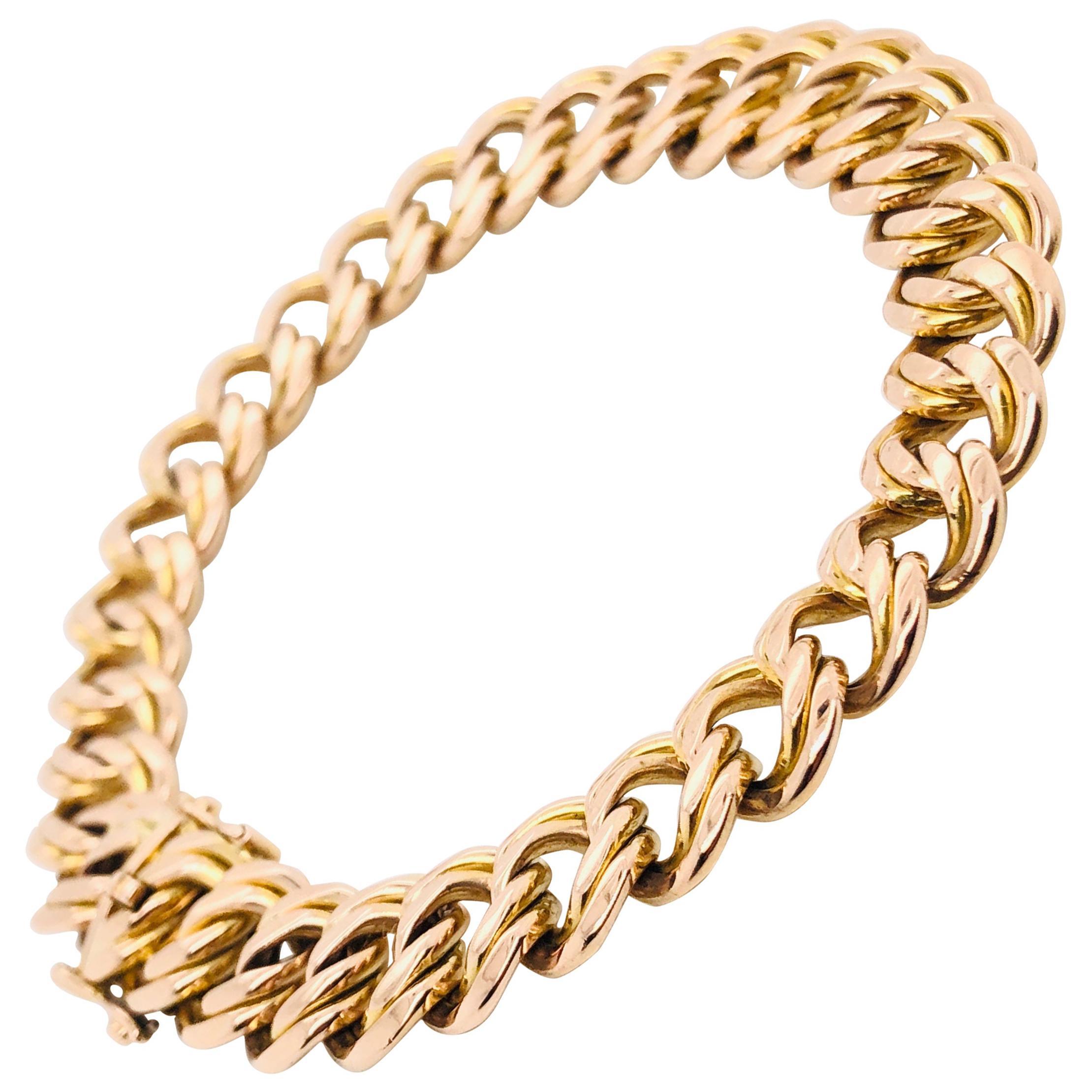 Rose Gold 18 Karat American Mesh Bracelet