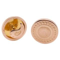 Rose Gold 18 Karat Cercle Shape Cufflinks