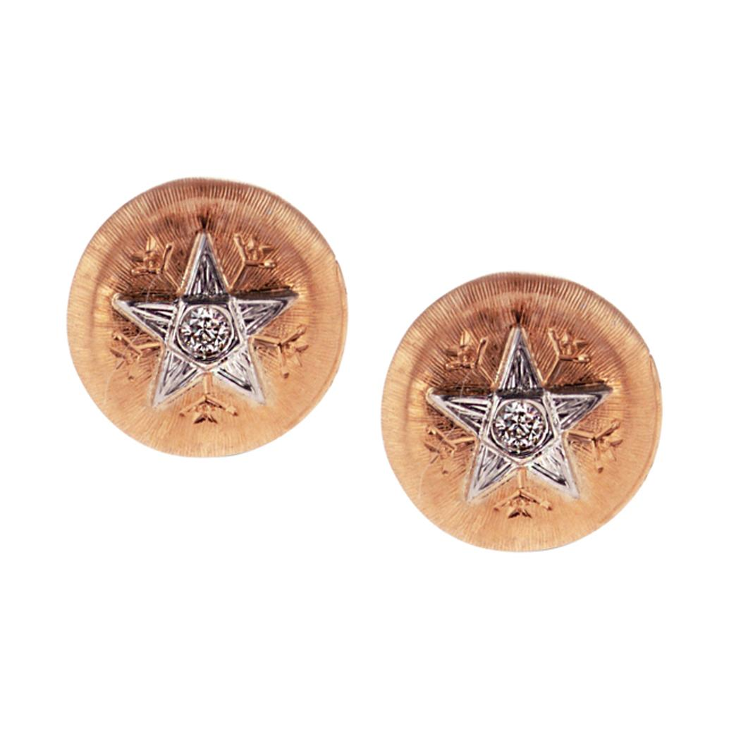 18Kt Rose Gold & Diamond Caterina Stud Earrings
