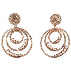 Rose Gold and Diamond Chandelier Earrings
