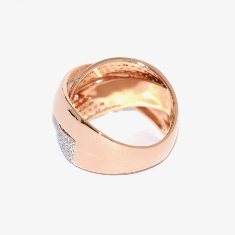 Rose Gold and Diamonds Interlaced Fashion Ring 1