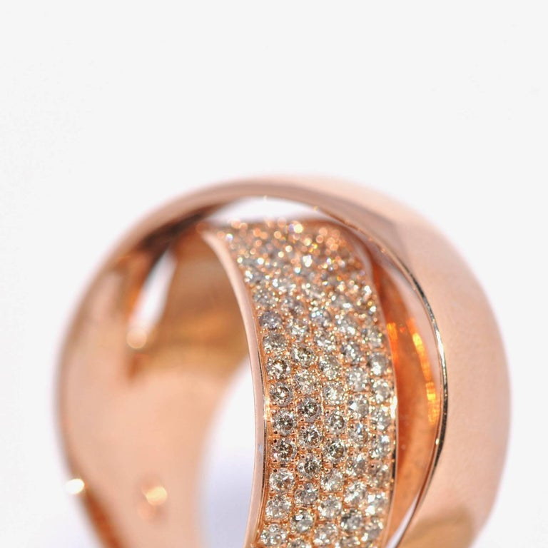Rose Gold and Diamonds Interlaced Fashion Ring 2