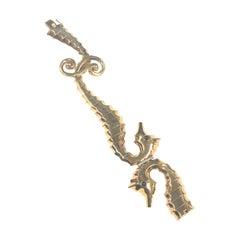 Rose Gold and Gem Set Retro Sea Horse Bracelet
