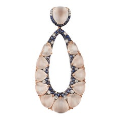 Rose Gold and Moonstone Oval Shaped Pendant