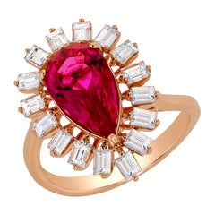 Rose Gold and Tourmaline Ring