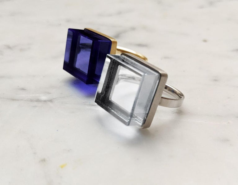 Rose Gold Art Deco Style Men's Ring with Amethyst, Featured in Vogue For Sale 3