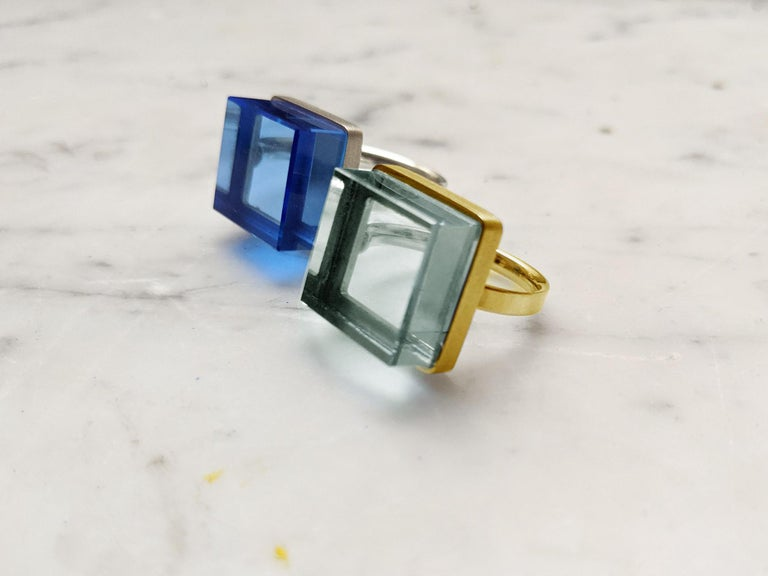 Rose Gold Art Deco Style Men's Ring with Natural Green Amethyst For Sale 6