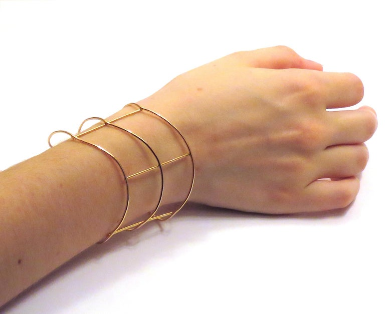 Contemporary Rose Gold Bracelet Handcrafted in Italy by Botta Gioielli For Sale