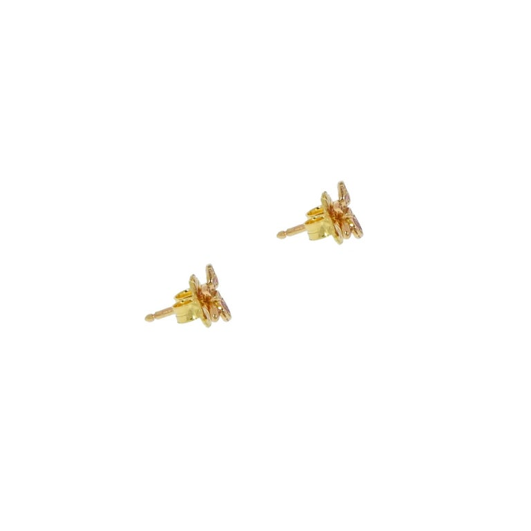 Modern Rose Gold Caresse D'Orchidees Cartier Earrings For Sale