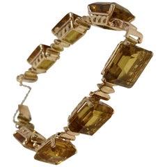 Rose Gold Citrine Bracelet