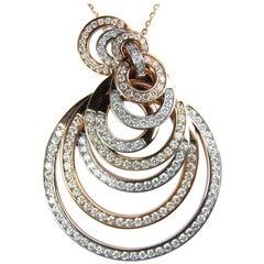 Rose Gold Diamond Circles Pendant