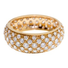 Rose Gold Diamond Pave Wedding Band