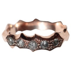Rose Gold Diamond Salt and Pepper Band