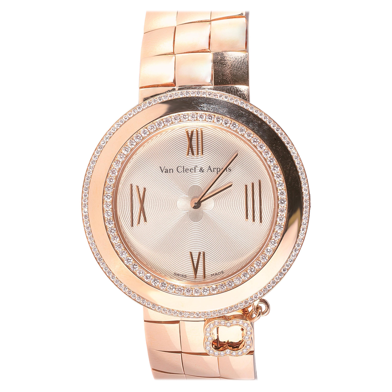 Rose Gold Diamond Van Cleef & Arpels Charms Watch