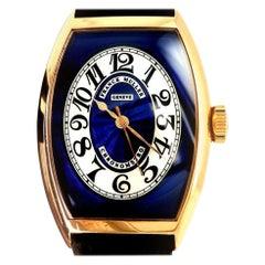 Rose Gold Franck Muller Cloisonné Blue Dial Chronometro 5850 Automatic