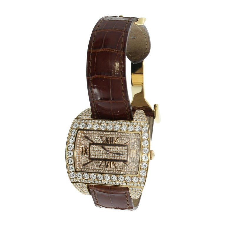 Rose Gold Ladies Wristwatch by Chopard For Sale