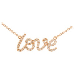 "Rose Gold ""Love"" Necklace"