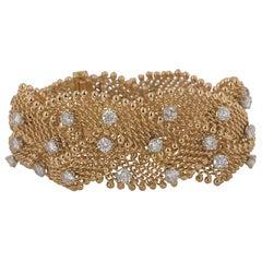 Rose Gold Mesh Diamond Bracelet 7.92 Carat