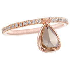 Nina Runsdorf Rose Gold Mini Brown Diamond Flip Ring