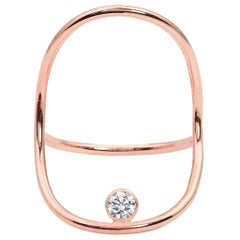 Rose Gold Minimalist Diamond Statement Ring