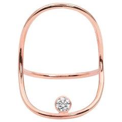 Rose Gold Minimalist Diamond Statement Ring
