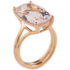 Rose Gold Morganite Ring by Wagner Collection