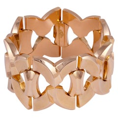Rose Gold Retro Wide Bracelet