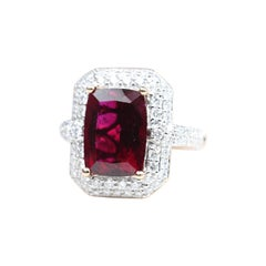 Rose Gold Rubelite Diamond Cocktail Ring