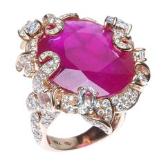 Rose gold Ruby Cocktail Ring