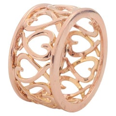 Rose Gold Scrolling Heart Band