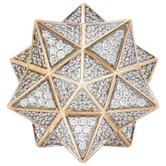 Rose Gold Star Tetra Diamond Ring