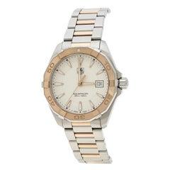 Rose Gold Tone Stainless Steel Aquaracer WAY1150.BD0911 Men's Wristwatch 40 mm