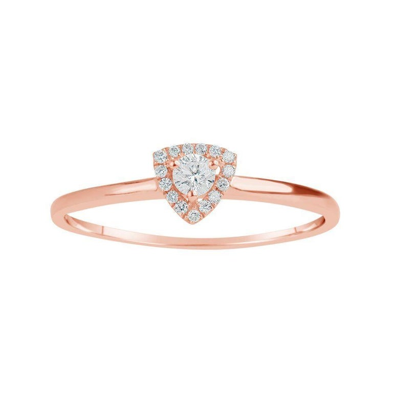 d3433238283962 Rose Gold Trillion Shape Ring For Sale at 1stdibs