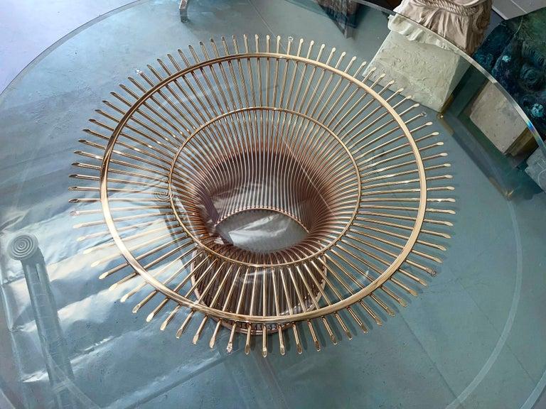 American Rose Gold Warren Platner for Knoll Dining Table For Sale