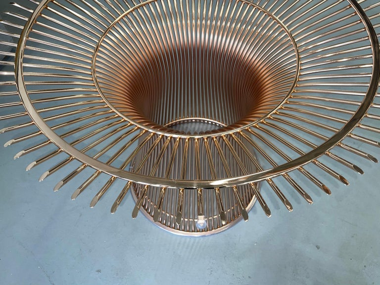 Contemporary Rose Gold Warren Platner for Knoll Dining Table For Sale