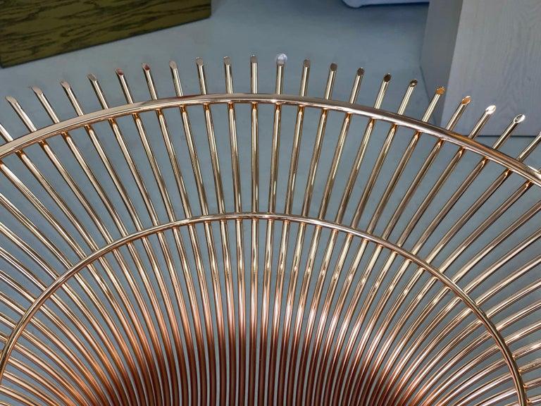 Metal Rose Gold Warren Platner for Knoll Dining Table For Sale