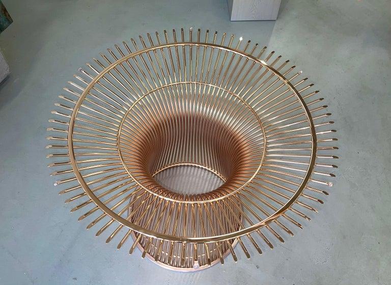 Rose Gold Warren Platner for Knoll Dining Table For Sale 2