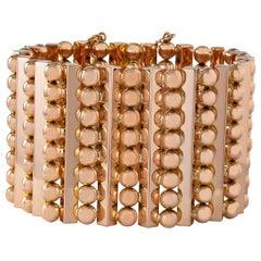 Rose Gold Wide Flexible Cuff Bracelet